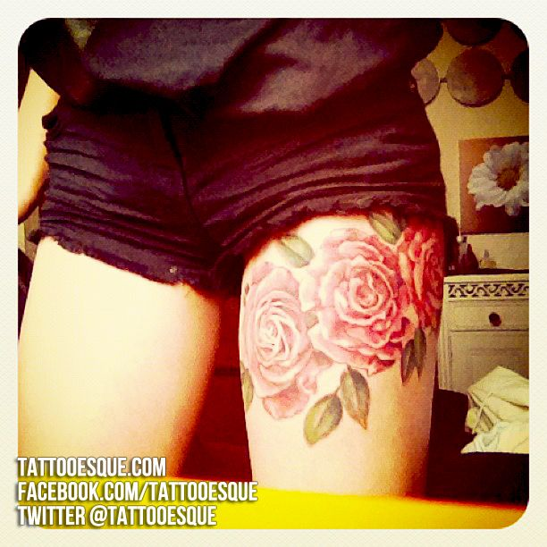 Upper Thigh Roses And Quote Tattoo: Best 25+ Upper Thigh Tattoos Ideas On Pinterest