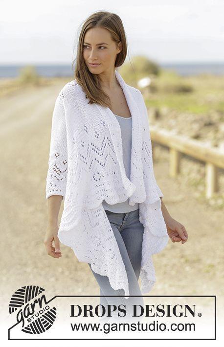 Free Pattern, jacket knit sideways with sleeves, Hummingbird.