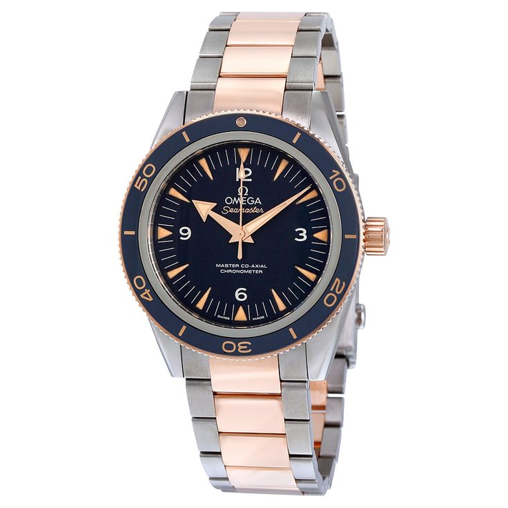 Omega Seamaster 300 Blue Dial Titanium and 18K Rose Gold Automatic Men's Watch 23360412103001 - Seamaster - Omega - Shop Watches by Brand - Jomashop