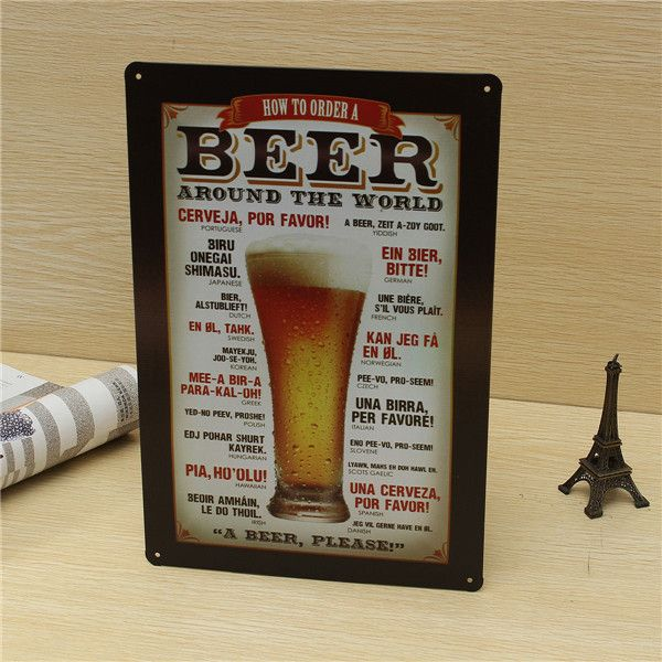 Worldwide Tavern Vintage Bar Pub Metal Retro Sign Tin Poster beer painting itemss Cafe Shop Home Wall Decoration Rustic Plaque-in Metal Crafts from Home & Garden on Aliexpress.com | Alibaba Group