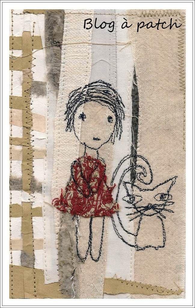 Piqué-libre sur fond textile/papier