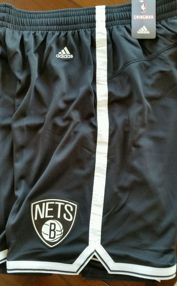 New Mens NBA Adidas Brooklyn Nets Black Swingman shorts 2XL Closeout Prices #adidas #NewJerseyNets