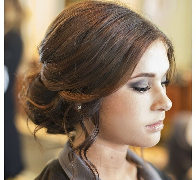 Front View of UpDo for Homecoming, Prom, Wedding