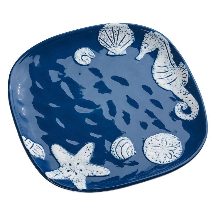 Global Amici Shoreline Cobalt Blue Dinner Plate - Set of 4 - 8WM016S4R