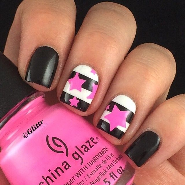 1000+ Ideas About Star Nail Designs On Pinterest