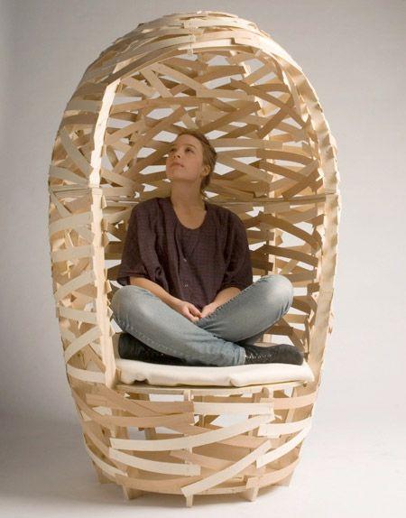 Unusual chair by talented Danish design student Martin Vallin