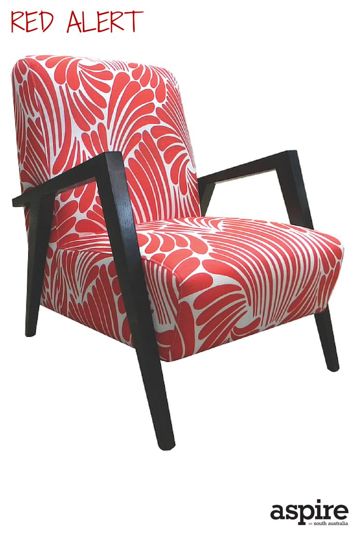 Matisse chair in Florence Broadhurst Fingers Tomato fabric $1890 from Design Furniture http://www.designfurniture.com.au/  #Red #Chair #Shopping #Adelaide #SouthAustralia