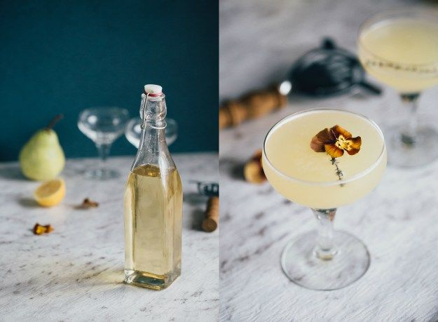Thyme simple syrup + a pear and thyme martini | Erin made this