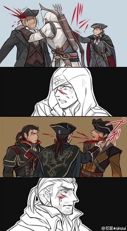 After finding out about his sister Haytham loses himself