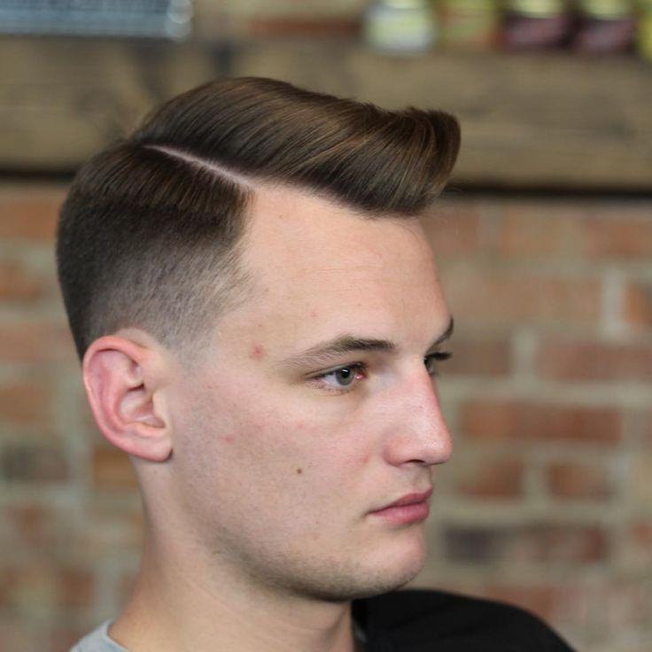 Nice A Classic Comb Over With A Modern Burst Fade. #menshair #menshaircuts  #gentlemanhaircut
