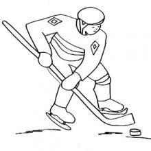 Coloriages Jeux olympiques : Hockey, ski, patinage ...
