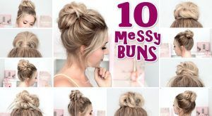 10 MESSY BUN hairstyles for back to school, party, everyday ❤ Quick and easy hair tutorial - #everyday #hairstyles #messy #party #quick