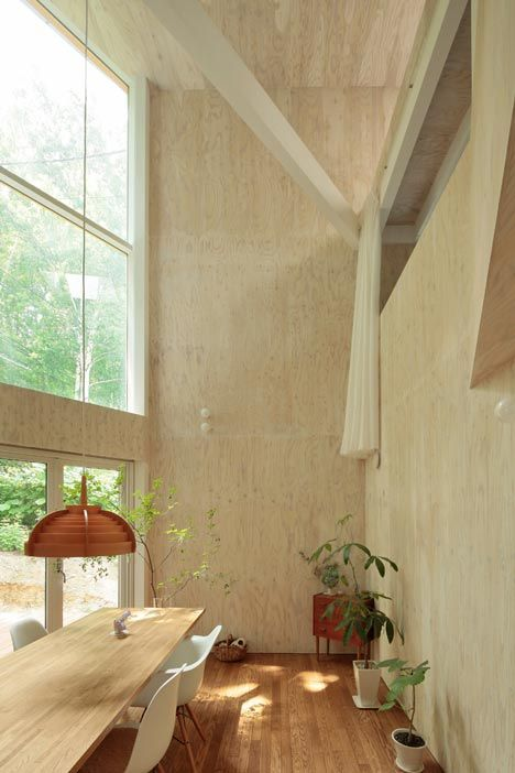 Small Box House by Akasaka Shinichiro Atelier: Big Window, Dining Rooms, Boxes House, Dining Area, Window Shades, High Ceilings, Dining Spaces, Small Boxes, Box Houses
