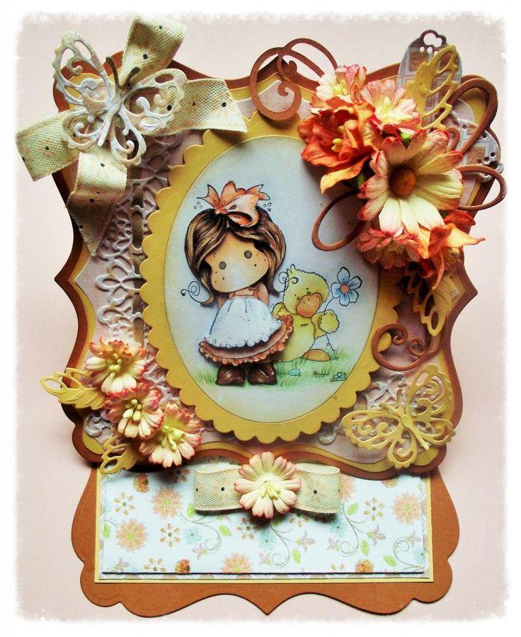 Magnolia Tilda Easel card decoupage any occasion