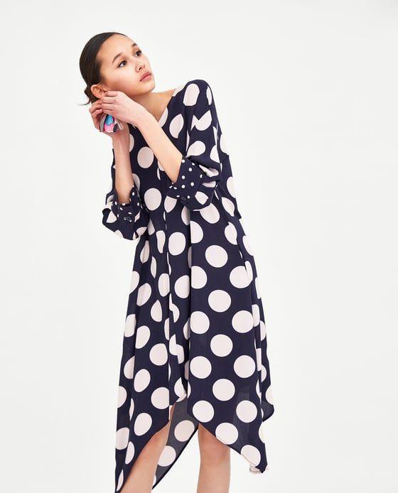 Dresses To Y Fashion Lunares Asimétrico Wear Oh Vestido Asymmetrical Zara What Pinterest Dress FAZwRWT