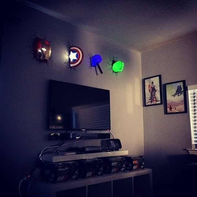 Super hero room. How awesome! Perfect for a night light ...