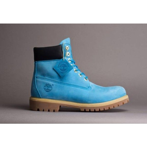 Ocean Blue Timberland Boots ($185) ❤ liked on Polyvore featuring shoes, boots, timberland footwear, timberland boots and timberland shoes