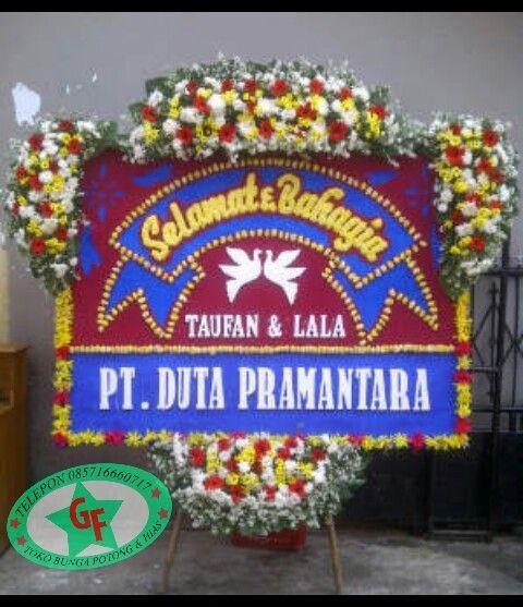 TOKO BUNGA JAKARTA: BUNGA PAPAN HAPPY WEDDING   KARANGAN BUNGA PAPAN  ...