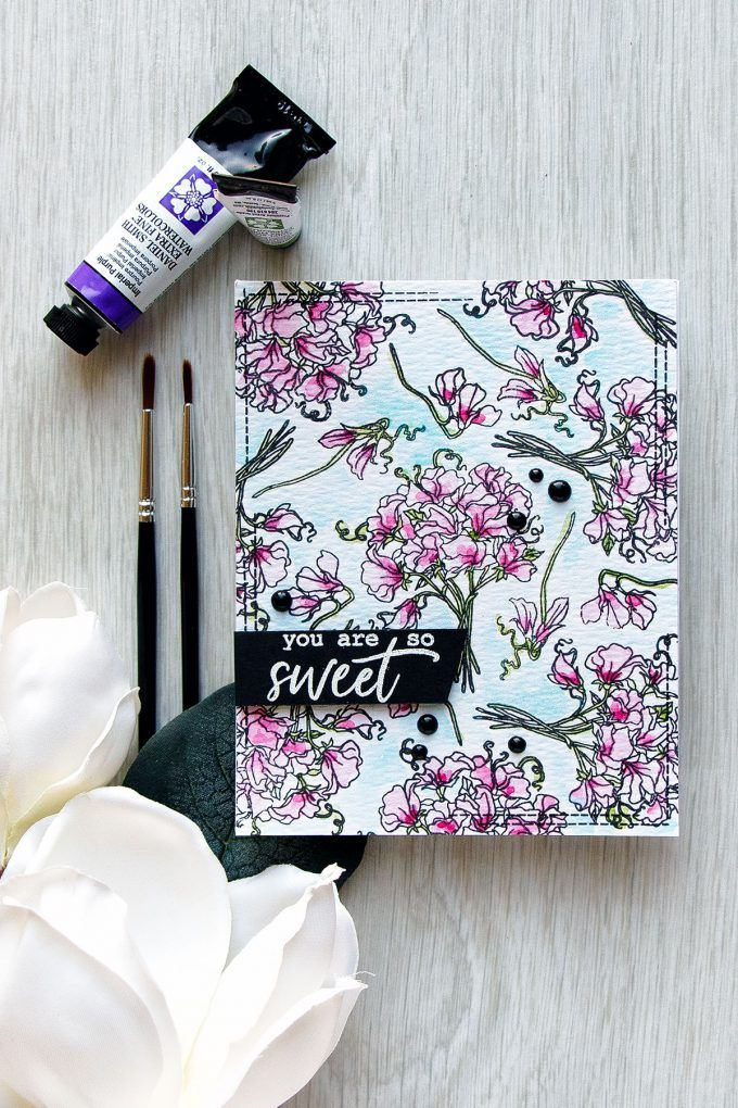 Hero Arts | You Are So Sweet Card. July My Monthly Hero Blog Hop + Giveaway