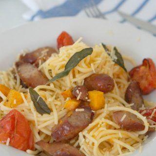 Recette de pâtes à la saucisse, à la sauge et à la citrouille (option sans gluten aussi) – Étincelle …   – Health