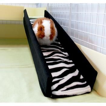 Ramp Cover from guinea pig market in Zebra and Black, great way to keep ramps clean!