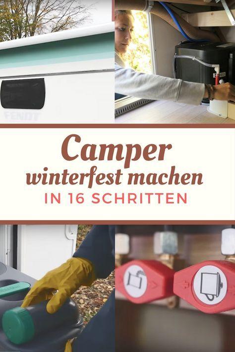 Checkliste: Wohnwagen und Wohnmobil winterfest machen (neu mit Video!)