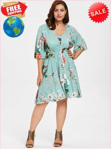 f10817512e Best Prices Floral Button Up Plus Size Dress 2401756 J81j4knp7y6DsRArhEdc Cheap  Sale  RoseGal.com