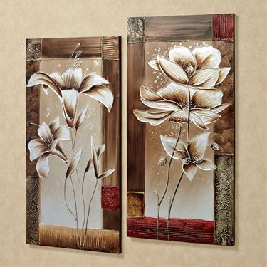 Petals of Spring Floral Canvas Wall Art Set