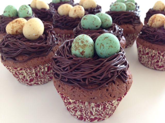 Muffins med fuglereder - Opskrift-kage.dk