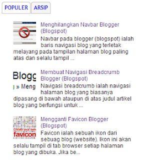 Membuat Gadget/Widget Menu Tab Blogger (Blogspot)
