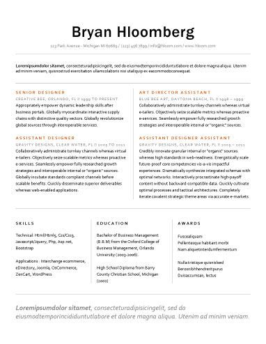 112 best Resume Templates images on Pinterest Creative resume - internal resume template