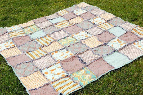 Джинсово-лоскутное одеяло для пикника. Мастер-класс / Живой лёд глобальных вопросов