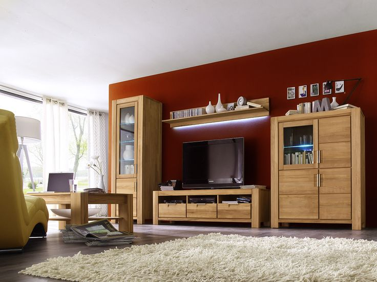 93 best Wohnzimmer   Wohnwände images on Pinterest Living room - moderner wohnzimmerschrank mit glastüren und led beleuchtung
