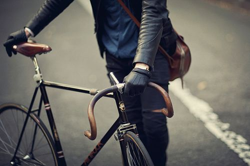 bicycle, commute, leather gloves, road bike, street, urban, city, transportation, wheels, speed, journey
