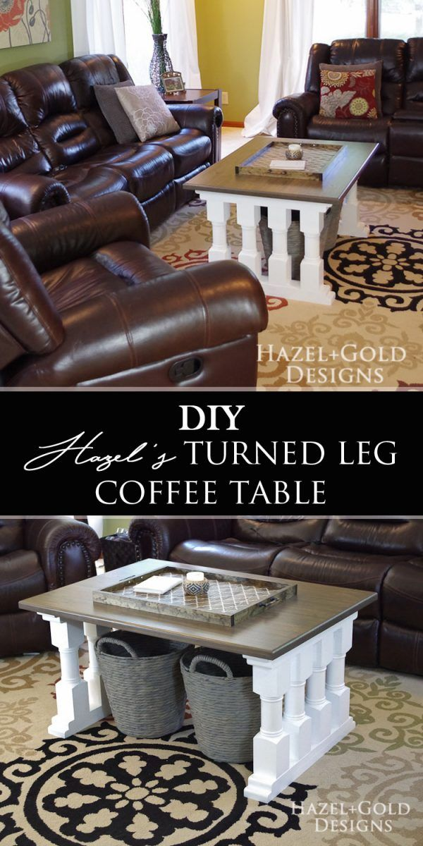 Need something different for your living room? Find the plans and full tutorial to build this awesome coffee table!  via @hazelandgold