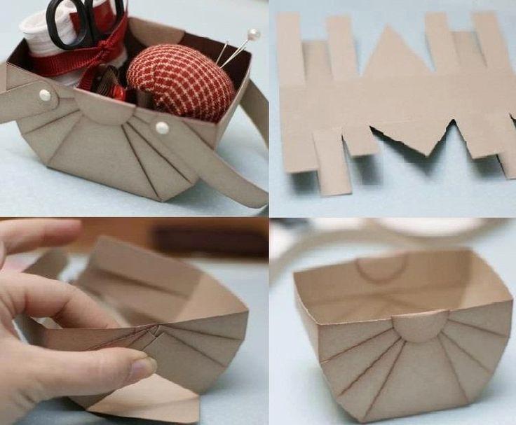 Handmade Simple Cardboard Basket