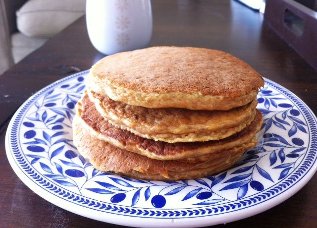 Healthy Carrot Cake Protein Pancakes