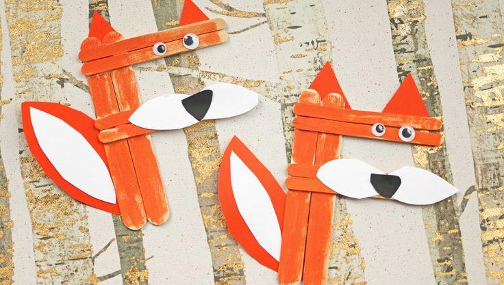 F is for Fox – Craft Stick Fox Kid Craft