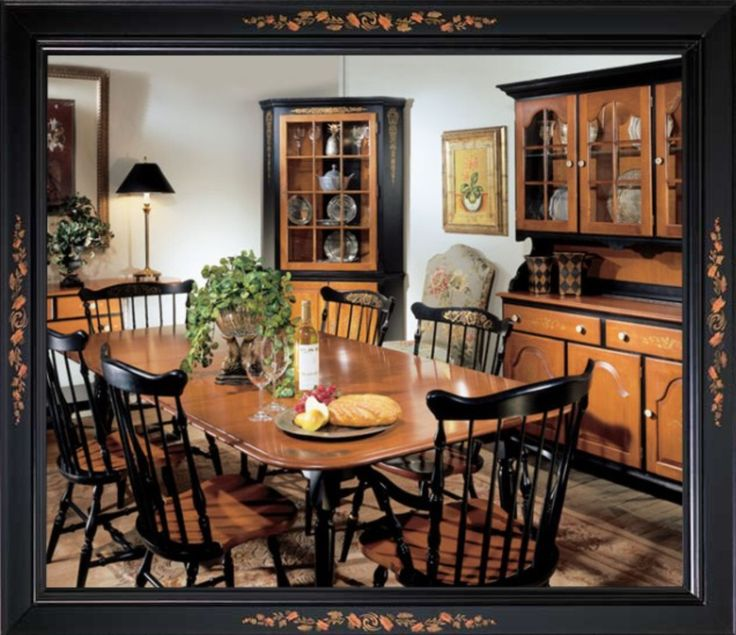 Early American Dining Room Furniture: 31 Best Hitchcock Furniture Images On Pinterest
