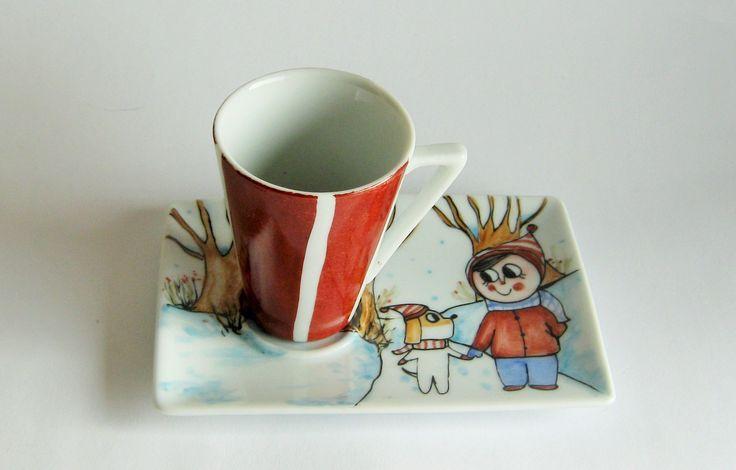 Tazzina da caffè con piattino : Stoviglie, bicchieri di eva-e-tabu