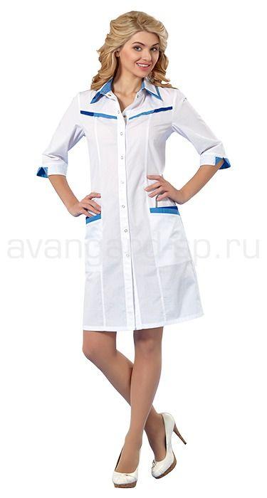 """Халат женский LL1111 Lantana / Халаты / Женская одежда """"Lantana"""" / Медицинская одежда"""