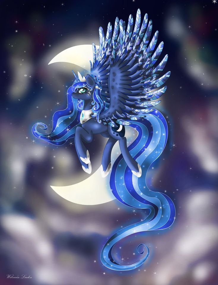 Princess Luna: The masked alicorn by Wilvarin-Liadon.deviantart.com on @DeviantArt