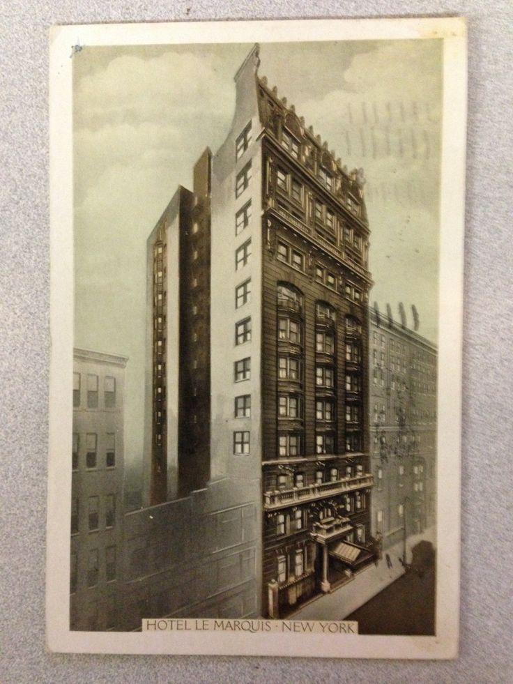 Rare Postcard of 1936 Hotel Le Marquis, New York | eBay