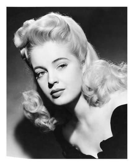 Mary Beth Hughes - various, blonde pin curls and film noir style photography
