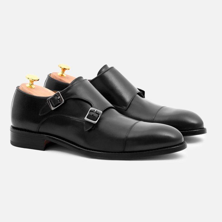 Hoyt Monk-Strap - Calfskin Leather - Black
