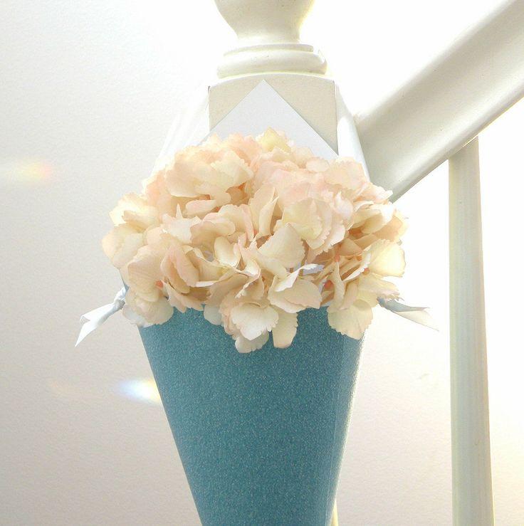 Aisle Marker Wedding Aisle Ideas Pinterest Paper Cones Blue And Vases