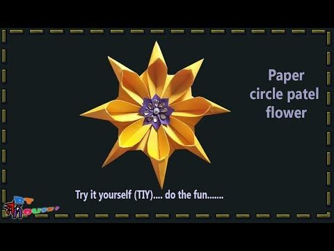 How to make circle petal paper flower by Art House | Very easy to make p...