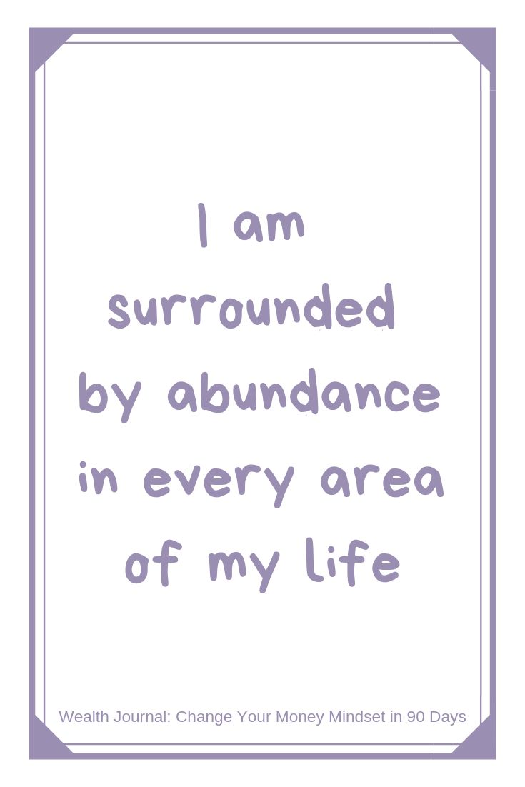 """I am surrounded by abundance in every area of my …"