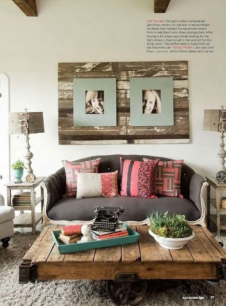love this lookCoffe Tables, Wall Art, Coffee Tables, Pallets Wall, Living Room, Pallets Tables, Old Wood, Pallets Ideas, Pictures Frames