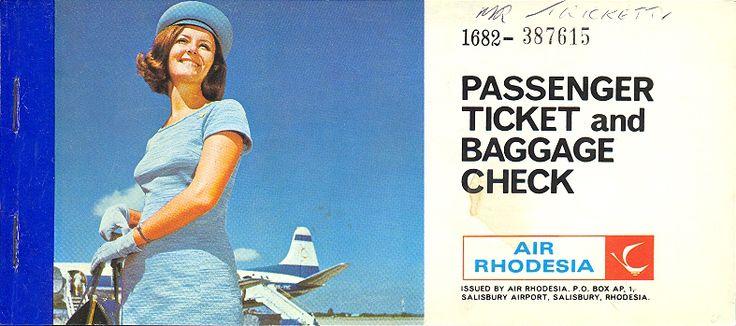 Air Rhodesia Ticket